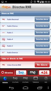 RTVE Móvil Screenshot