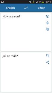 Česky English Překladatel - náhled