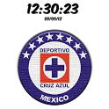 Digital Clock Cruz Azul icon