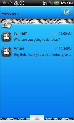 GO SMS THEME BlueTiger4U