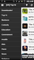 Screenshot of AndroidPod :Top Podcast Player