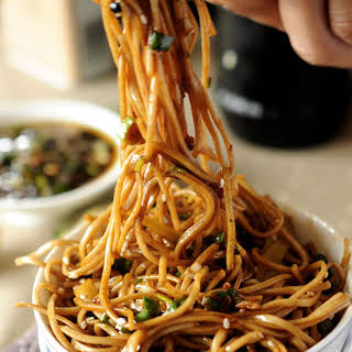 Soba Noodles with Sweet Ginger Scallion Sauce.