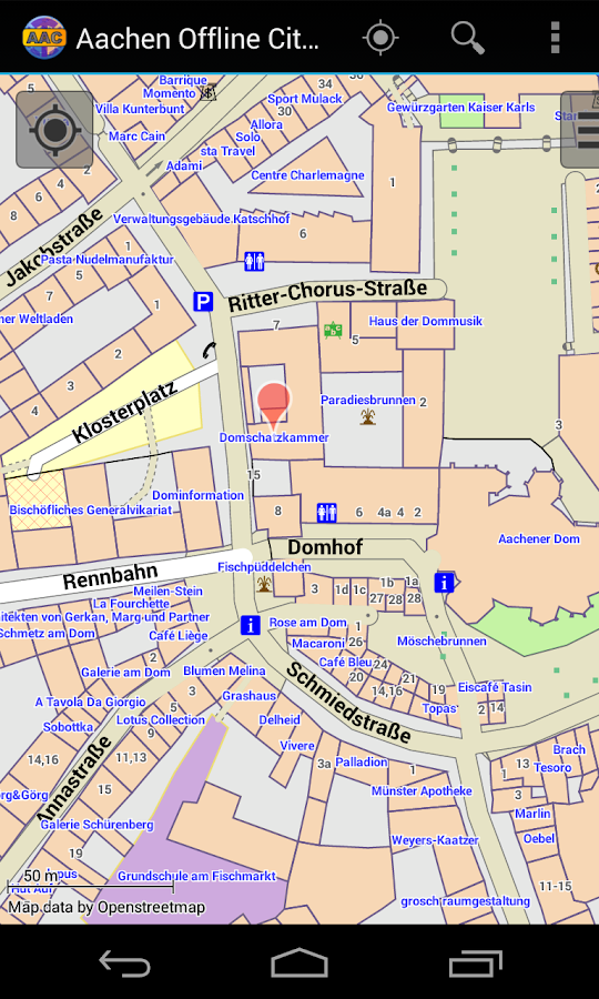 Aachen Offline City Map- screenshot