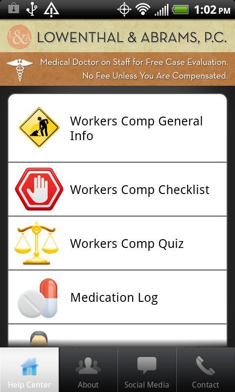 Workers Compensation- screenshot