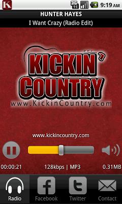 Kickin' Country Radio - screenshot
