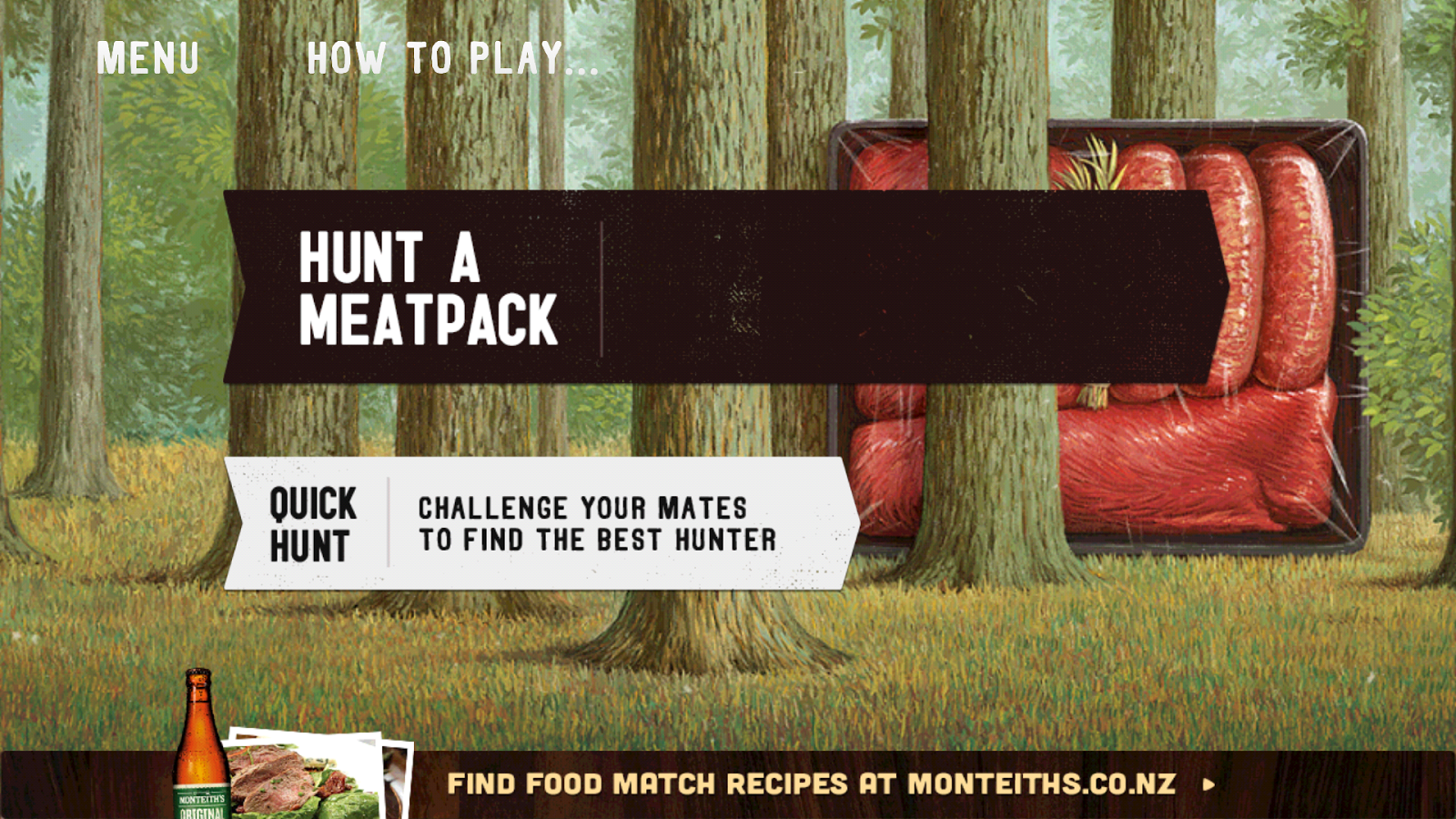 Monteith's Meatpack Hunt - screenshot