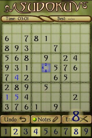 Sudoku Free 1.5 Screenshots 1
