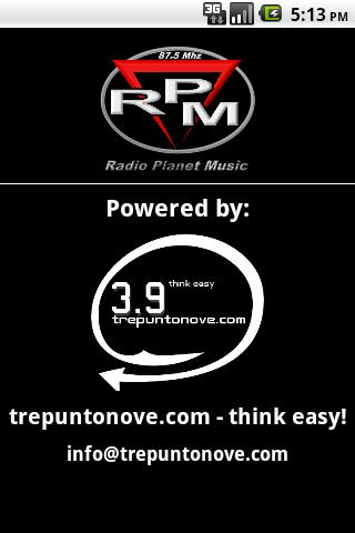 RPM - Radio Planet Music- screenshot