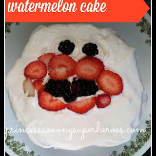 """Watermelon Cake With Paleo """"cool Whip"""" Frosting"""