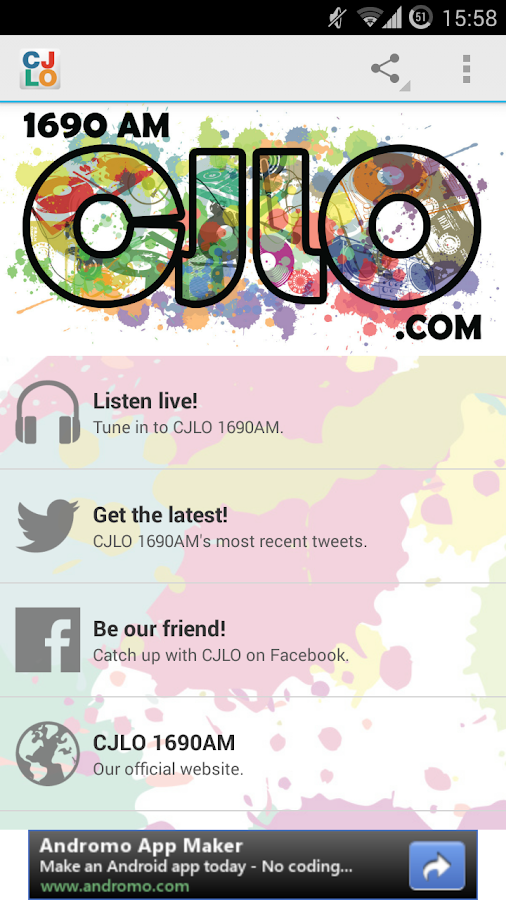 CJLO 1690AM for Android: captura de pantalla