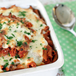 Three Cheese Baked Ziti (Eggplant Optional)