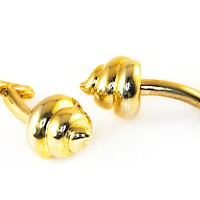 Lucky Golden Poo Cufflinks