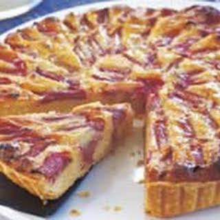 Warm Rhubarb Frangipane Tart.