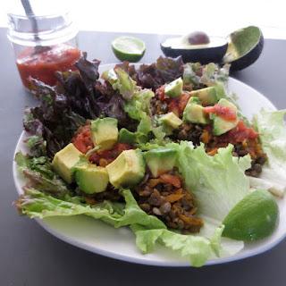 Spicy Lentil Lettuce Wraps