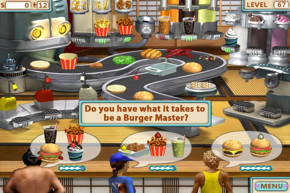play online burger shop 2
