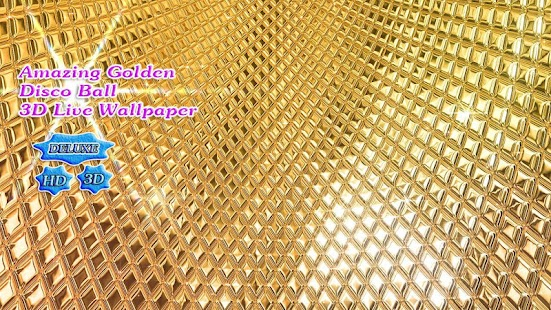 Amazing Golden Disco Ball 3D- screenshot thumbnail