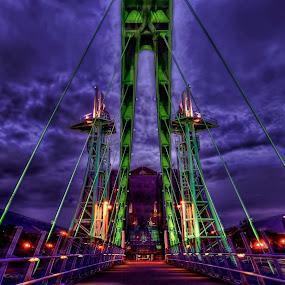 SALFORD QUAYS by Derek Tomkins - Buildings & Architecture Bridges & Suspended Structures