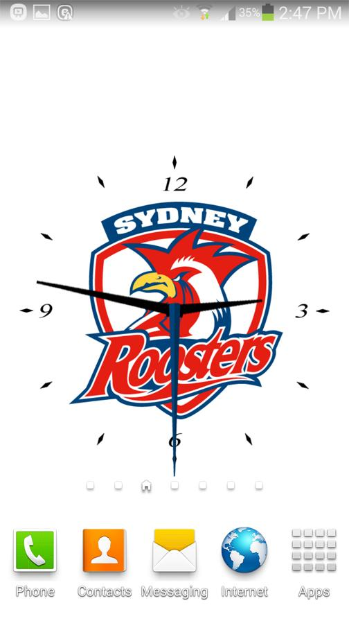 Sydney Roosters Analog Clock- screenshot