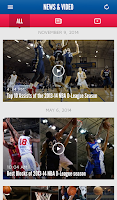 Screenshot of NBA D-League app