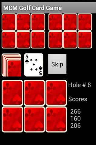 MCM Golf Card Game Screenshot