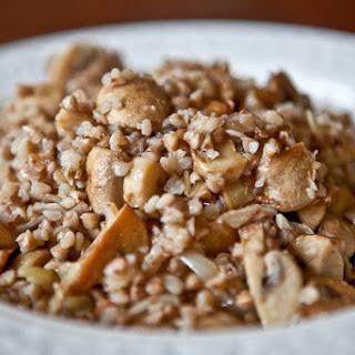 Buckwheat Kasha with Mushrooms.