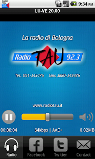 Radio TAU 92.3 Bologna - screenshot thumbnail