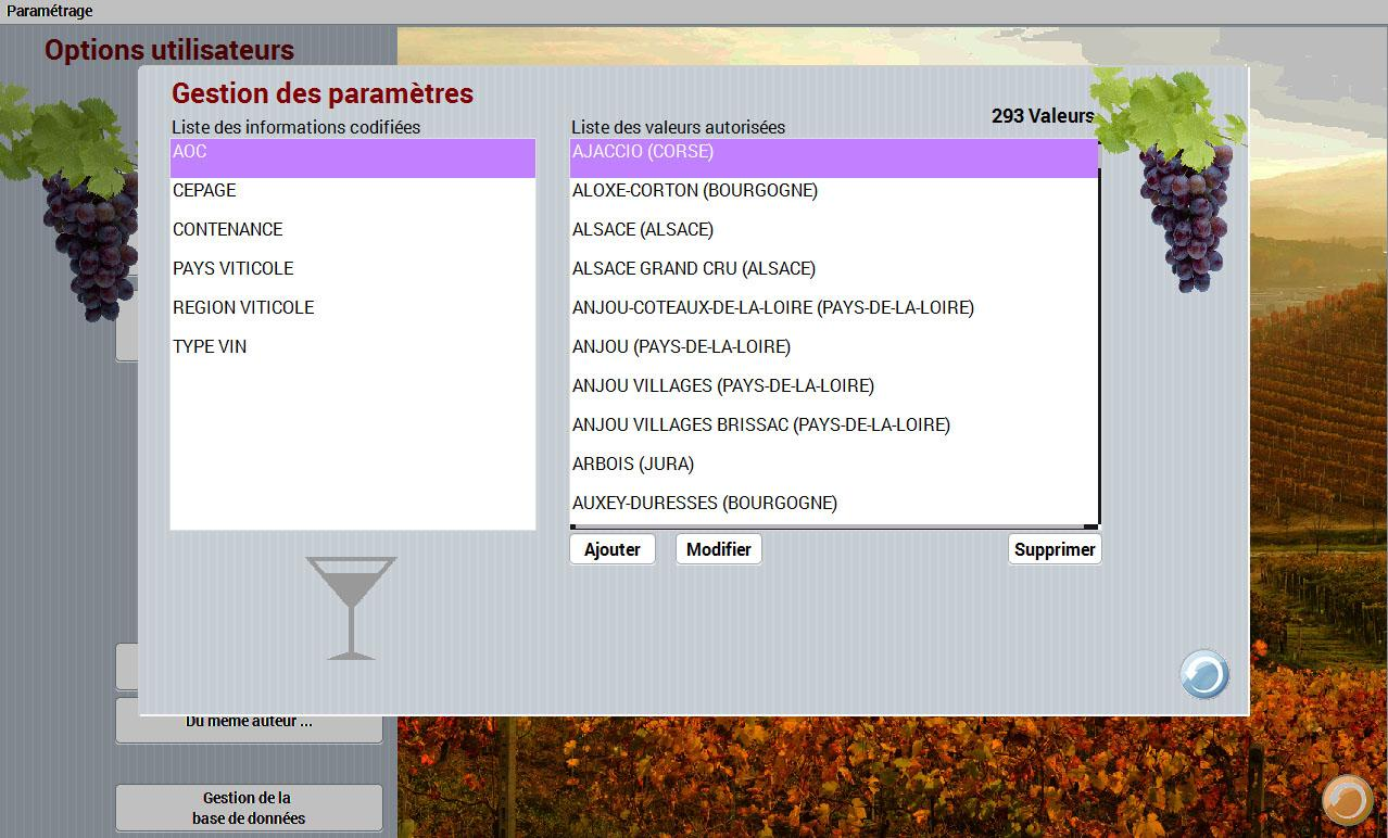 Dionysos, gestion caves à vins- screenshot