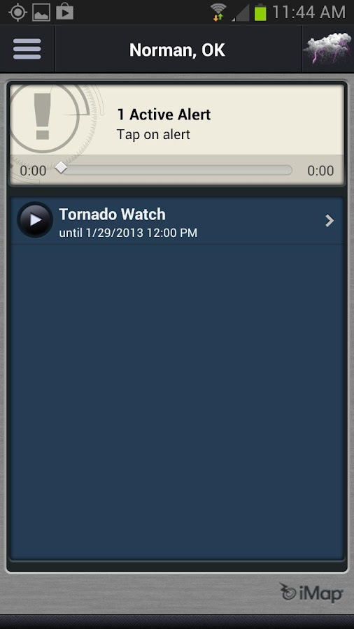 iMap Weather Radio - screenshot