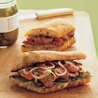 Marinated Flank Steak Sandwiches.