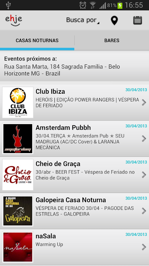 Ehje! Baladas, Bares, Eventos - screenshot