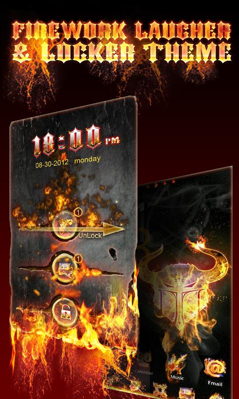 Firework GO Locker Theme - screenshot