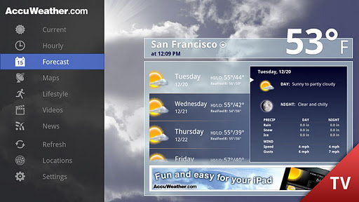 AccuWeather for Google TV 1.2.7 screenshots 2