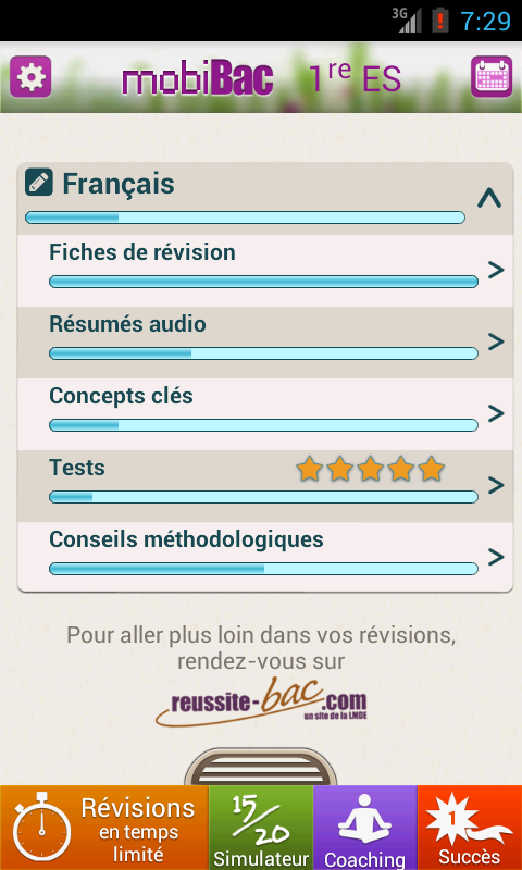 mobiBac 1re ES- screenshot
