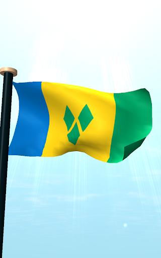 セントビンセントおよびグレナディーン諸島フラグ3D無料壁紙|玩個人化App免費|玩APPs