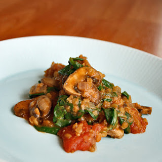 Indian-Spiced Mushrooms and Lentils.