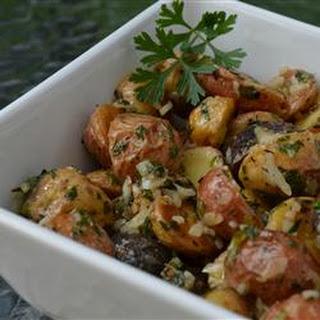 Roasted New Potato Salad With Olives.