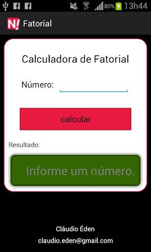 Calculadora Fatorial