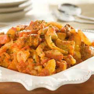 Chicken & Sausage Scarpariello Arrabbiata.