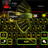 Yellow Flame GO Keyboard theme