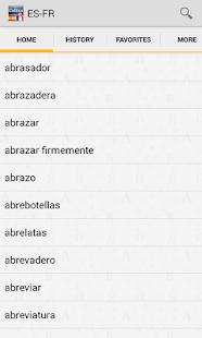 Spanish<>French Dictionary T - screenshot thumbnail