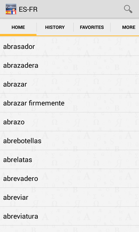 Spanish<>French Dictionary T - screenshot