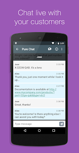Pure Chat - Customer Live Chat - screenshot thumbnail