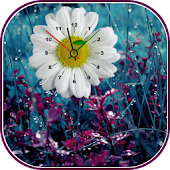 Flower Clock Live Wallpaper