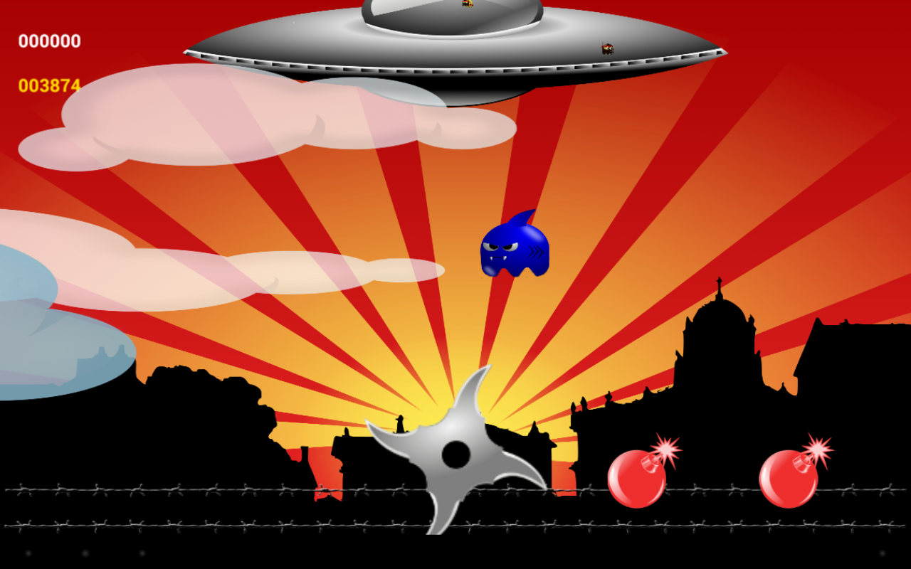 Ninja vs Aliens- screenshot