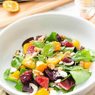 Roasted Beet Citrus Salad with Blood Orange Vinaigrette.