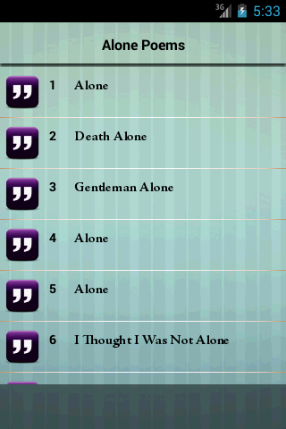 【免費書籍App】Alone Poems-APP點子