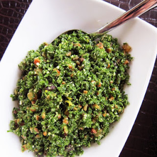Parmesan Kale Salad with Raisins