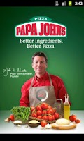 Screenshot of Papa John's Pizza