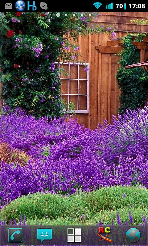 Lavender Garden Live Wallpaper - screenshot