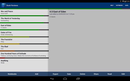 【免費生產應用App】Write Notebook-APP點子